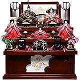 【雛人形収納三段飾】小三五親王芥子官女:咲来雛:伏見屋監修【雛人形】
