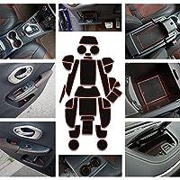 Kust mcd31654W滑り止めシリコン車ドアスロットパッド、車のカップホルダーマット、フィット20152016ジープチェロキー、29ピースパック内部アクセサリーゲートスロットパッド レッド mcd31654w-0353