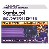 Sambucol Throat Lozenges Black Elderberry with Vitamin C & Zinc, Aus Version, 20ct