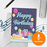 Happy誕生日カードwith Music | Musical誕生日カード、Happy誕生日グリーティングカード、誕生日プレゼント00014 120 Second Recordable