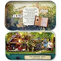 MonkeyJack DIY Handicraft Tin Box Wood Miniature Dollhouse Theatre Series Birthday Gift -Countryside Notes