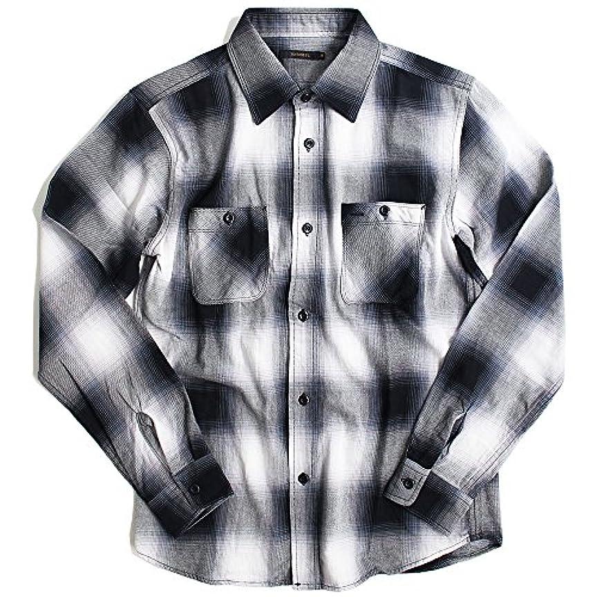有害な心のこもったうなずくQUINTETTO(クインテット) オンブレ チェックシャツ 長袖シャツ メンズ オンブレチェック 01-77818ombre (L, 01,ホワイト(WHITE))