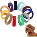 Dog Cat Collar12 Colours Whelping ID Collar Bands Pet Puppy Kitten Identification Collar Tags