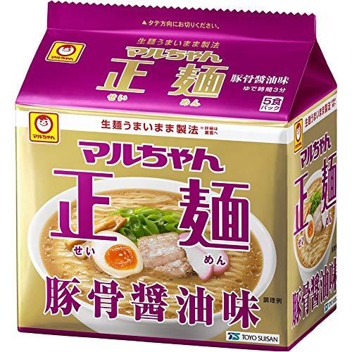 マルちゃん正麺 豚骨醤油 5食