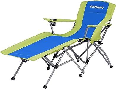 FUNDANGO(ファンダンゴ) コットアウトドア チェアベッド 折りたたみ式ベッド ビーチチェア ラウンジチェア キャンプ コンパクト レジャーチェア ガーデン 庭 9C1013
