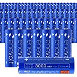 エネボルト(enevolt) 大容量 単3形充電池 3000mAh ニッケル水素充電池 自然放電軽減 繰り返し約1000回 充電 電池 64本セット