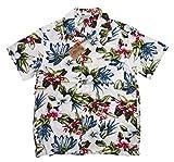 (スタイルド バイ オリジナルズ)Styled by Originals ハイビスカス 花柄 半袖 レーヨン100% アロハシャツ XL(LL) WHITE(ホワイト)