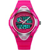 Kids Teens Girls Waterproof Sports Digital Watches Timer with Alarm Stopwatch 7 Colorful Luminous for Age 6-15