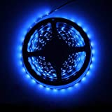 Water-Resistance IP65, 12V Waterproof Flexible LED Strip Light, 16.4ft/5m Cuttable LED Light Strips, 300 Units 3528 LEDs Ligh