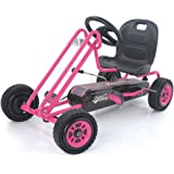 Hauck Lightning - Pedal Go Kart | Pedal Car | Ride On Toys for Boys & Girls with Ergonomic Adjustable Seat & Sharp Handling -