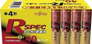 富士通 アルカリ乾電池 単4形 40個パック LR03RS(40S)