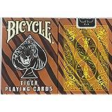 自転車タイガーデッキトランプ - タイガースキンバックのデザイン Bicycle Tiger Deck Playing Cards - Tiger Skin Back Design