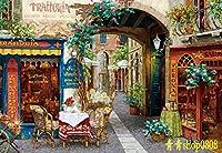 ししゅう糸 DMC糸 クロスステッチ刺繍キット 布地に図柄印刷 欧州ロマン風景 (GG)