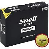 BRIEFING x Snell MTB BLACK-黄(1箱12個入り) ブリーフィングロゴ日本正規品スネルゴルフ MTBブラック(黄)BKY-BRFG
