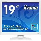 iiyama モニター ディスプレイ E1980SD-W2 (19インチ/スクエア(SXGA)/TN/D-sub,DVI-D/3年保証/ホワイト)