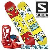 16-17 SALOMON / サロモン TEAM PACKAGE チームパッケージ メンズ キッズ 子供用 スノーボード 板 2017 90