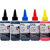 キャノン Canon 詰め替えインク 互換 100ml 5色セット 全機種対応 PGBK/BK/C/M/Y ボトルインク【ピーチマート】(5色セット)
