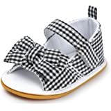 Meckior Baby Girls Premium Soft Rubber Sole Anti-Slip Summer Shoes Infant Baby Prewalker Toddler Sandals. (11cm(0-6months), H