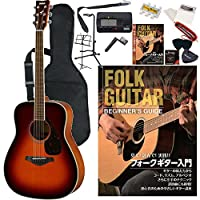 ヤマハ ギター 初心者 セット アコースティックギター FG820BS ブラウンサンバースト 入門15点セット チューナー 教則DVD付