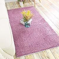 カーペット敷き布団エレガントなスタイルの寝室居間フロアマット肥厚した玄関マットレス滑り止めのデザインパターン ( Color : Pink , Size : 800MM×1600MM )