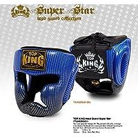 トップキング TOP KING キックボクシング ヘッドギア スーパースター 青 Sサイズ