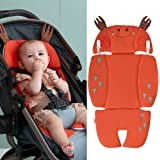 Bebamour Baby Seat Cushion for Stroller Soft and Breathable Baby Body Support for Head & Neck Protection Baby Seat Liner for