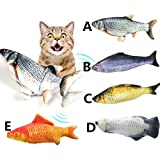 Cat Kicker Fish Toy - Flopping Fish Cat Toy - Cat Wagging Fish Realistic Plush Simulation Electric Doll Fish Plush Toy Intera