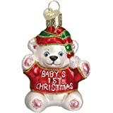 Old World Christmas Ornaments: Baby's 1St Christmas Glass Blown Ornaments for Christmas Tree