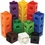 edxeducation-12010 Linking Cubes - in Home Learning Toy for Early Math - Set of 100 - .8 inch Size - Connecting Blocks - Pres