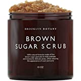 Brown Sugar Body Scrub - Exfoliating Face Scrub & Body Scrub for Cellulite, Stretch Marks, Acne, and Varicose Veins, 10 oz -