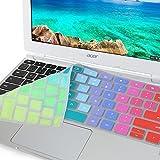 """エイサー 11.6""""Chromebook の GMYLE 虹シリコン キーボード カバーCB3-111-C670 CB3-111-C8UB"""