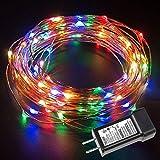 LE 100球10m RGB銅線ワイヤー LEDイルミネーションライト フェアリーライト 電球色 結婚式/パーティー用