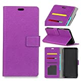 For Asus ZenFone V Live V500KL Case, [Extra Card Slot] Happon [Wallet Case] PU Leather TPU Casing フラップ [Drop Protection] Cover for Asus ZenFone V Live V500KL, Purple