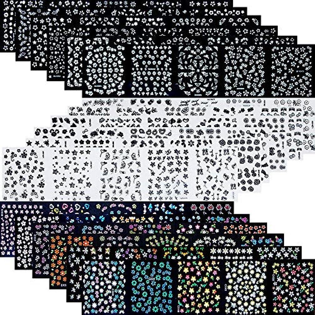 指令重大の90枚 ネイルアートシール ミニ ネイル 用 可愛い マニキュア ネイルステッカー