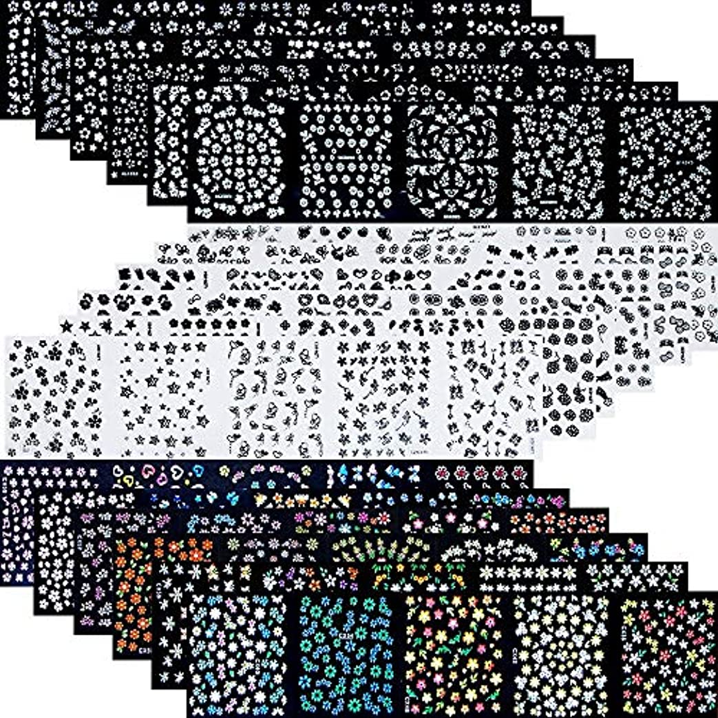 架空の排気記念碑的な90枚 ネイルアートシール ミニ ネイル 用 可愛い マニキュア ネイルステッカー