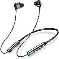 ワイヤレスイヤホン 【apt-X AAC対応】 Bluetooth イヤホン 20時間連続再生 スポーツ用 Hi-Fi…