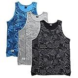 【PM403-1501】 ペレペレ PELLE PELLE ゲームシャツ ノースリーブ バスケットシャツ ペイズリー柄 バンダナ 総柄 大きいサイズ 正規品 (02)グレー L