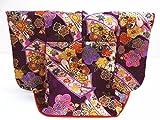 正絹ミニチュア着物=振袖&衣桁セット紫地のし古典花紋様