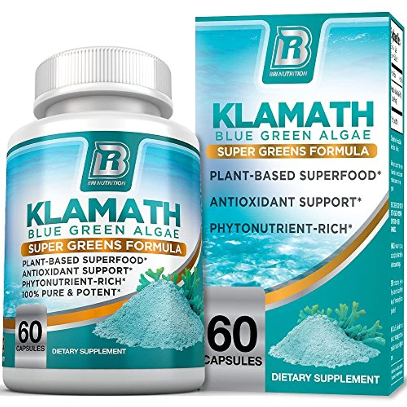 無秩序アサー軸Klamath Blue Green Algae 60 capcels