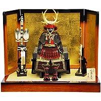 【五月人形】【平飾り】真田幸村公 赤塗南蛮甲冑飾り