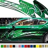 トライバルカーステッカーカラー17■バイナルグラフィックワイルドスピード系デカール