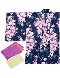 [キョウエツ] 浴衣 変わり織 fy29 3点セット(浴衣、半幅帯、小物) レディース