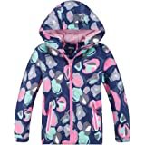 Hiheart Girls Waterproof Hooded Jackets Thick Padded Winter Coat Navy