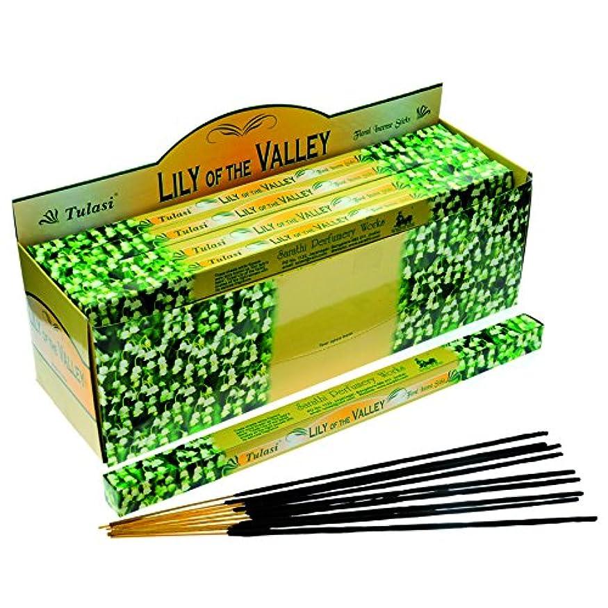 先に死の顎性的Tulasi Lily Of The Valley お香 8本 x 25パック