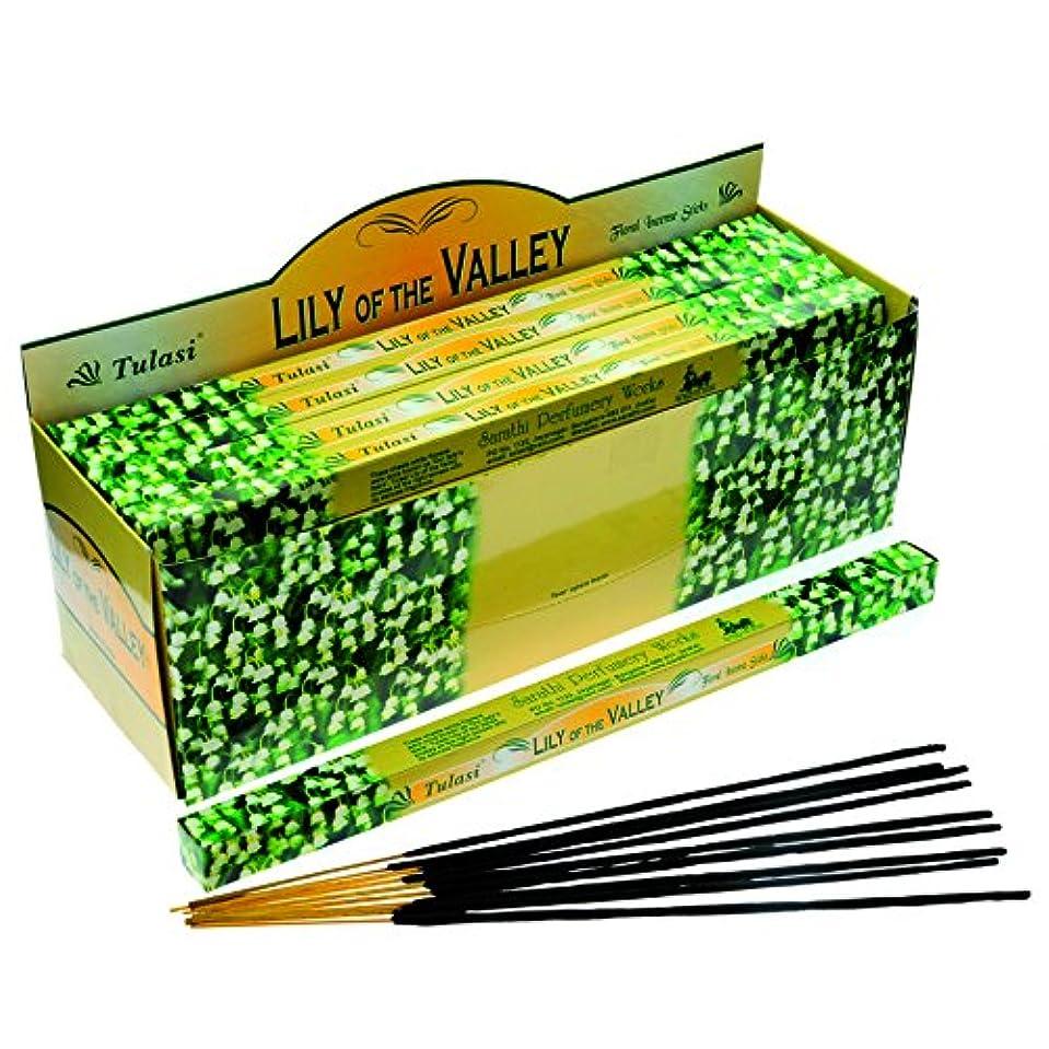 人種ベル最初にTulasi Lily Of The Valley お香 8本 x 25パック