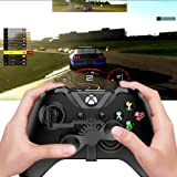 Xbox One Mini Steering Wheel, Xbox One Controller Add-on Accessories for All Xbox Racing Game (Black)
