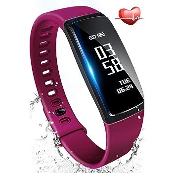 最新版 スマートブレスレット 活動量計 心拍計 血圧測定 歩数計 防水 Bluetooth スマートウォッチ 着信電話 LINE通知 iphone & Android