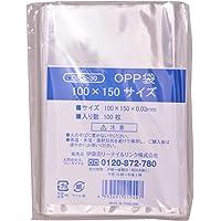 伊藤忠リーテイルリンク OPP袋 シール無 100×150サイズ 100枚入