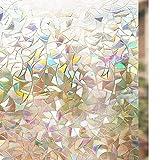 Rabbitgoo 窓用フィルム 目隠しシート 断熱/紫外線カット 無接着剤 再利用可能 (遠花火 90 x 200cm)