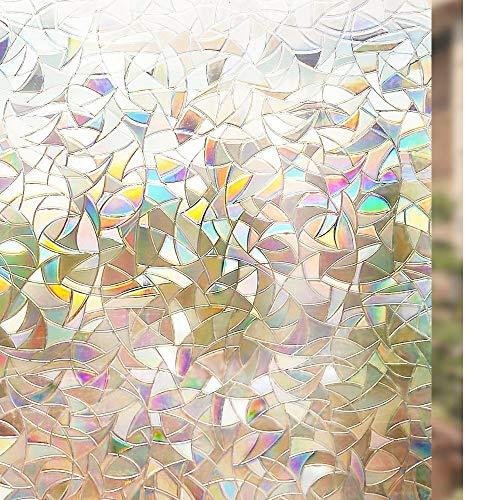 Rabbitgoo 窓用フィルム 目隠しシート 断熱/紫外線カット 無接着剤 再利用可能 (遠花火 90 x 200cm...
